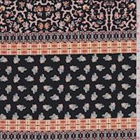 Black Multi Morrocan Stripe ITY Jersey Knit