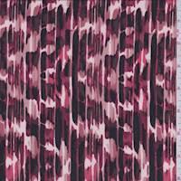 Ruby Brush Stroke ITY Jersey Knit