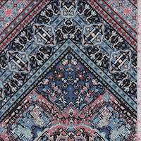 Blue/Brick Diamond Patchwork ITY Jersey Knit