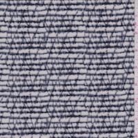 Pale Grey/Navy Marble Stripe ITY Jersey Knit