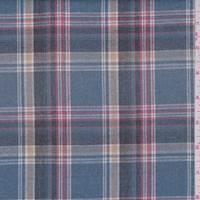Dusty Blue Plaid Flannel