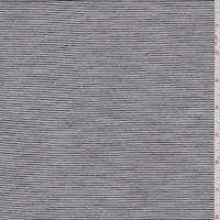 Black/Pearl White Mini Stripe T-Shirt Knit