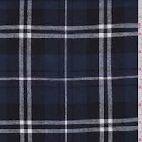 Dark Slate Blue Plaid Flannel
