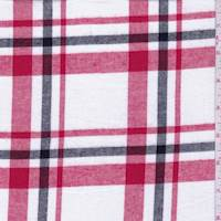 White/Red/Black Plaid Flannel