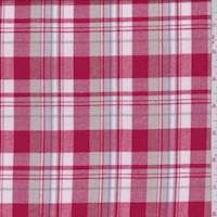 Red/White/Tan Plaid Flannel