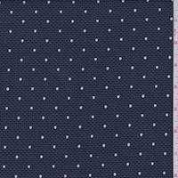 Navy Dot Pique Suiting