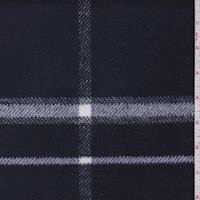 Dark Navy/White Plaid Flannel Jacketing