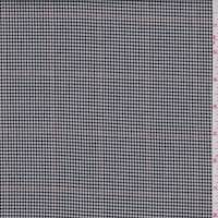Black/White Windowpane Check Cotton Suiting