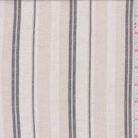 Sand Multi Stripe Linen Blend