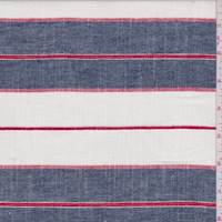 Denim Blue Stripe Linen Blend