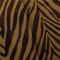 *6 3/4 YD PC--Hickory/Tawny Brown Zebra Velvet Home Decorating Fabric