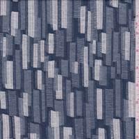 Slate Blue Multi Brick Jacquard Jersey Knit