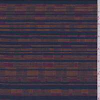 Navy/Orange Deco Stripe Gauze