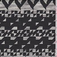 Black/White Abstract Boucle Jacketing