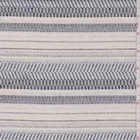 Ecru/Navy/Black Stripe Jacketing