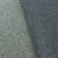 Gray Double Sided Brushed Wool Basketweave Jacketing