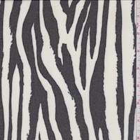 *2 3/4 YD PC--Black/White Zebra Silk Chiffon
