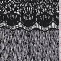 *2 1/2 YD PC--Black Baroque Polyester Lace