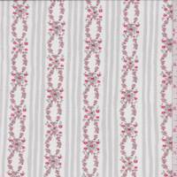 *2 5/8 YD PC--White/Pink Floral Chain Stretch Mesh