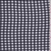 *1 YD PC--Black/White Check Cotton Jersey Knit