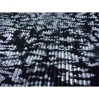 *2 YD PC--Black/Silver Texture Print Pleated Interlock