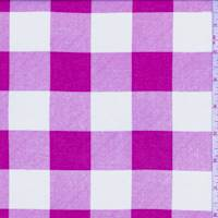 *3 YD PC--Hot Pink Check Cotton