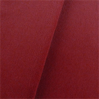 *7 YD PC--P. Kaufmann Scarlet Red Velveteen Upholstery Fabric