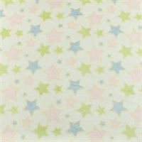 *1/2 YD PC--White/Multi Star Minky