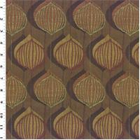 *1 1/4 YD PC--Designer Brown/Orange Autumn Speedway Home Decorating Fabric