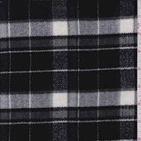 *3/4 YD PC--Black Plaid Flannel Jacketing