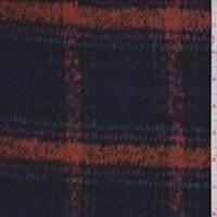 *3/4 YD PC--Violet/Orange Plaid Jacketing