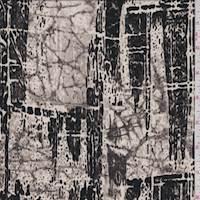 *2 3/4 YD PC--Bone/Taupe Bark Plaid Silk Crepe de Chine