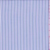*2 5/8 YD PC--White/Denim Blue Stripe Cotton Shirting