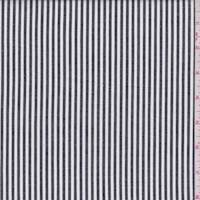 Black/White Stripe Cotton Shirting