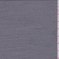 *1 YD PC--Steel Grey Railroad Stripe Wool Blend Suiting