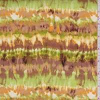 Cocoa/Lime Seismic Stripe Rayon Challis
