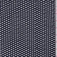 *1 3/8 YD PC--Navy Cotton Sweater Mesh