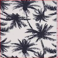 Ivory Palm Tree Rayon Challis