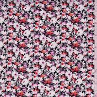 Black Fringe Floral Rayon Challis