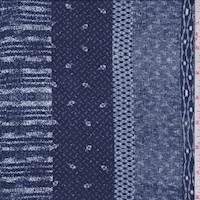 Navy Novelty Stripe ITY Jersey Knit