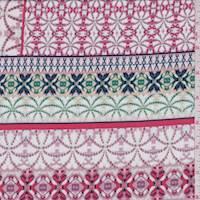 White/Mauve Deco Stripe ITY Jersey Knit