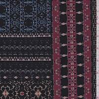 Black Multi Moroccan Tile ITY Jersey Knit