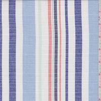 White/Sky/Cobalt Stripe Oxford