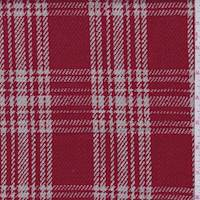 Cherry Red/Pale Taupe Plaid Jacketing