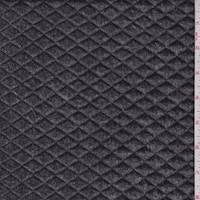 *3 5/8 YD PC--Slate Black Denim Look Quilted Knit
