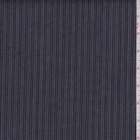 *4 1/8 YD PC--Dark Grey/Black Stripe Stretch Denim
