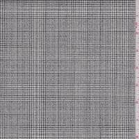 *4 YD PC--Off White/Charcoal Plaid Tropical Wool