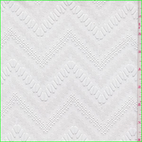 *3 YD PC--White Chevron Crochet Lace