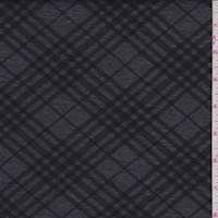 *5 1/8 YD PC--Charcoal/Black Argyle Double Knit