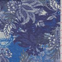 *2 YD PC--Coventry/Violet Baroque Floral Jersey Knit